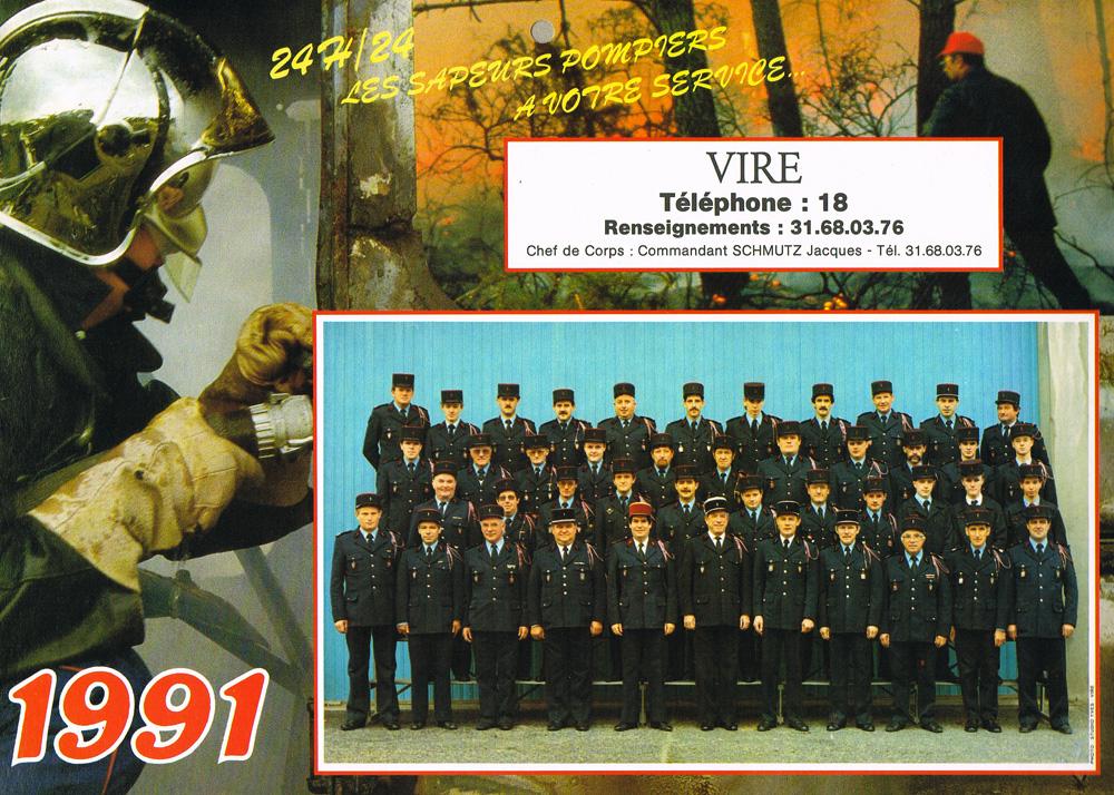 1991_calendrier_CSP_Vire