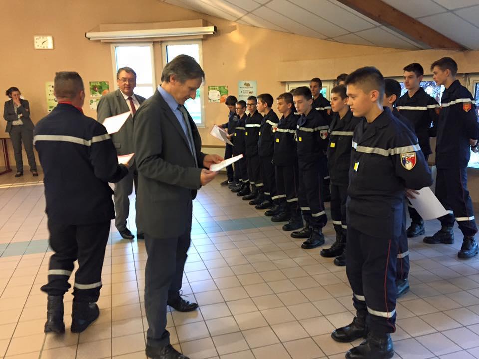 Sabater remise JSP Pompiers de Vire